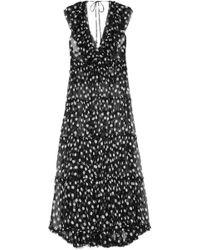 Lee Mathews - Mansfield Ruffled Polka-dot Crinkled Silk-georgette Maxi Dress - Lyst