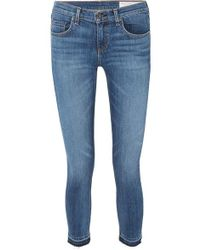 Rag & Bone - Dre Capri Distressed Mid-rise Skinny Jeans - Lyst