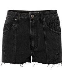 Givenchy - Paneled Frayed Denim Shorts - Lyst