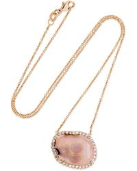 Kimberly Mcdonald - 18-karat Rose Gold, Geode And Diamond Necklace - Lyst