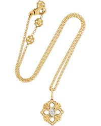 Buccellati - Opera 18-karat Yellow And White Gold Diamond Necklace - Lyst