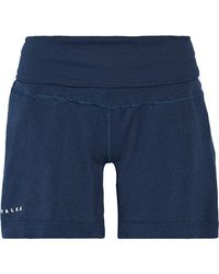 Falke - - Stretch-jersey Shorts - Storm Blue - Lyst