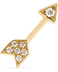 Maria Tash - Arrow 18-karat Gold Diamond Earring - Lyst