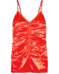 Helmut Lang | Ruched Satin Camisole | Lyst