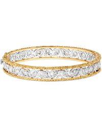 Buccellati - Ramage 18-karat White And Yellow Gold Diamond Bangle - Lyst