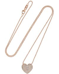 Anita Ko - 18-karat Rose Gold Diamond Necklace - Lyst