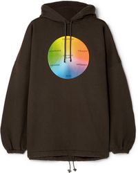 Balenciaga - Oversized Printed Cotton-blend Jersey Hoodie - Lyst