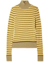 Carven - Wool-blend Jacquard Turtleneck Jumper - Lyst