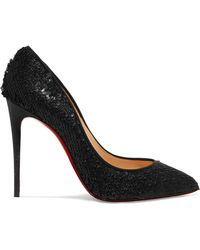 Christian Louboutin - Pigalle Follies 100 Sequined Leather Court Shoes - Lyst