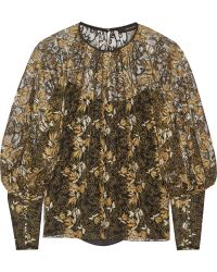 Wes Gordon - Embroidered Tulle Blouse - Lyst