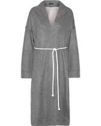 Bassike - Double-faced Wool-blend Coat - Lyst