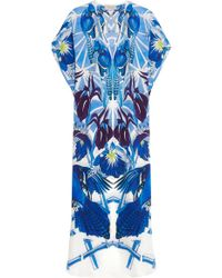 Temperley London - - Printed Silk Kaftan - Blue - Lyst