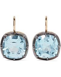 Fred Leighton - Collection 18-karat Gold, Silver And Topaz Earrings - Lyst