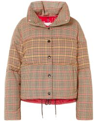 Moncler - Panelled Checked Quilted Wool-blend Down Jacket - Lyst