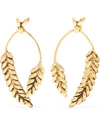 Aurelie Bidermann - Wheat Vergoldete Ohrringe - Lyst