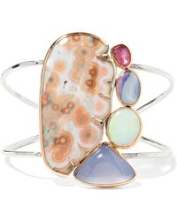 Melissa Joy Manning - 14-karat Gold, Sterling Silver And Multi-stone Cuff - Lyst