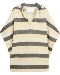 Solid & Striped - The Beach Cape Striped Basketweave Cotton-blend Poncho - Lyst
