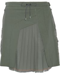 Tim Coppens - Pleated Twill-paneled Denim Skirt - Lyst