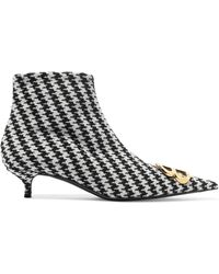 90521997e8f4 Lyst - Balenciaga Bb Houndstooth Wool Bootie in Black