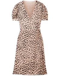 Alice + Olivia - Rosette Fil Coupé Chiffon Wrap Dress - Lyst