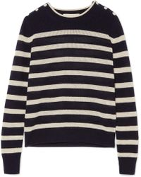 Vanessa Bruno - Izara Striped Waffle-knit Wool And Cashmere-blend Sweater - Lyst