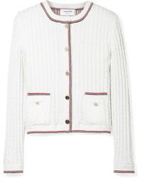 Thom Browne | Cable-knit Wool Cardigan | Lyst