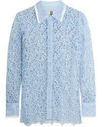 Topshop Unique - Taplow Guipure Lace Shirt - Lyst