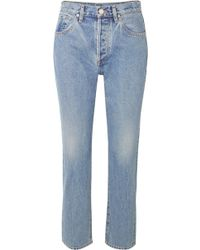 Goldsign - The Benefit High-rise Straight-leg Jeans - Lyst