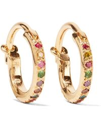 Ileana Makri - Mini Rainbow 18-karat Gold Multi-stone Earrings - Lyst