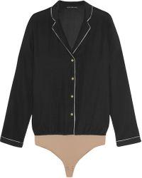 Body Editions | Aragon Stretch-silk Bodysuit | Lyst