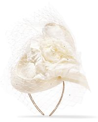 Philip Treacy - Crystal-embellished Veiled Headpiece - Lyst