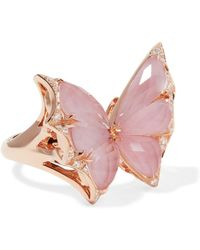 Stephen Webster | Fly By Night 18-karat Rose Gold Multi-stone Ring | Lyst