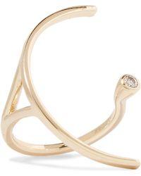 Hirotaka - Tree Hopper 10-karat Gold Diamond Ring Gold 5 - Lyst