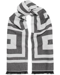 Givenchy - Wool And Cashmere-blend Jacquard Scarf - Lyst