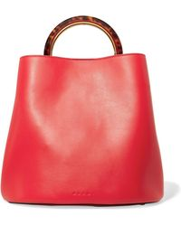 Marni - Pannier Large Leather Tote - Lyst