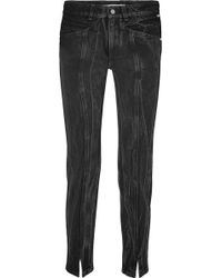 Givenchy - Distressed High-rise Slim-leg Jeans - Lyst