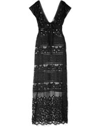 Miguelina - Reina Lace Maxi Dress - Lyst