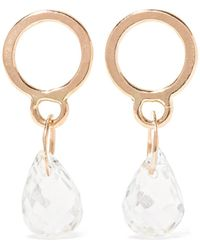 Melissa Joy Manning - 14-karat Gold Aquamarine Earrings - Lyst
