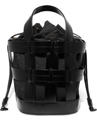 Trademark - Cooper Caged Leather And Canvas Tote - Lyst
