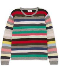 Allude - Striped Cashmere Jumper - Lyst