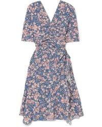 Isabel Marant   Brodie Floral-print Stretch-silk Crepe Dress   Lyst