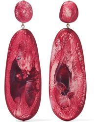 Dinosaur Designs - River Stone Resin Earrings - Lyst