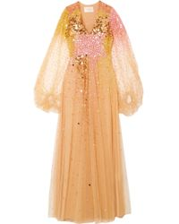 Stine Goya   Madeline Sequined Tulle Gown   Lyst