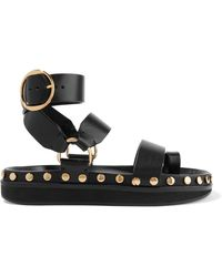 Isabel Marant - Nirvy Studded Leather Sandals - Lyst