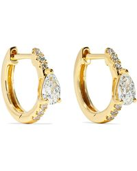 Anita Ko - Huggies 18-karat Gold Diamond Earrings - Lyst