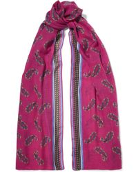 Etro - Printed Cashmere Scarf - Lyst