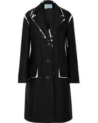 Prada - Oversized Printed Denim Coat - Lyst