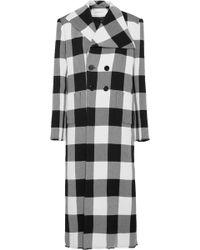 Marques'Almeida - Marquesalmeida Check Print Double Breasted Coat - Lyst