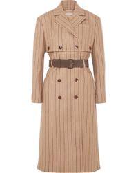 Altuzarra - Pinstriped Wool And Cashmere-blend Coat - Lyst