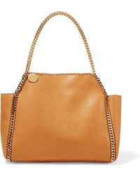 Stella McCartney - The Falabella Reversible Faux Brushed-leather Tote - Lyst